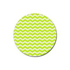 Chevron Background Patterns Rubber Coaster (round)  by Nexatart