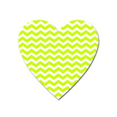 Chevron Background Patterns Heart Magnet by Nexatart