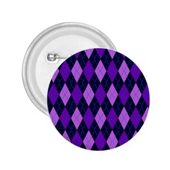 Static Argyle Pattern Blue Purple 2 25  Buttons by Nexatart