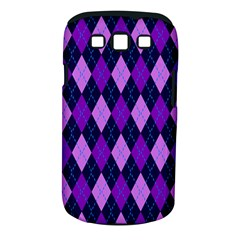 Static Argyle Pattern Blue Purple Samsung Galaxy S Iii Classic Hardshell Case (pc+silicone) by Nexatart