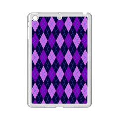 Static Argyle Pattern Blue Purple Ipad Mini 2 Enamel Coated Cases