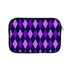 Static Argyle Pattern Blue Purple Apple Ipad Mini Zipper Cases by Nexatart