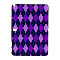 Static Argyle Pattern Blue Purple Galaxy Note 1