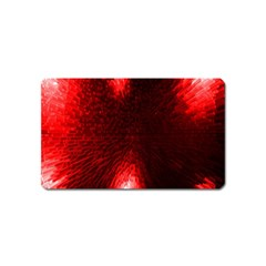 Box Lights Red Plaid Magnet (name Card) by Mariart