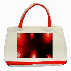 Box Lights Red Plaid Classic Tote Bag (red) by Mariart