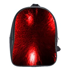 Box Lights Red Plaid School Bags(large)