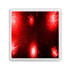Box Lights Red Plaid Memory Card Reader (square)  by Mariart