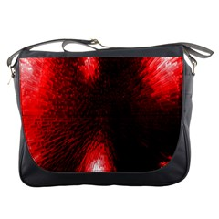 Box Lights Red Plaid Messenger Bags by Mariart