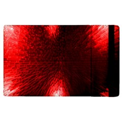 Box Lights Red Plaid Apple Ipad 2 Flip Case by Mariart