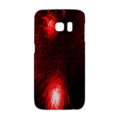 Box Lights Red Plaid Galaxy S6 Edge by Mariart