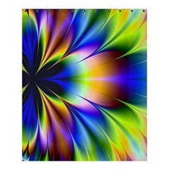 Bright Flower Fractal Star Floral Rainbow Shower Curtain 60  X 72  (medium)  by Mariart