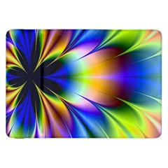 Bright Flower Fractal Star Floral Rainbow Samsung Galaxy Tab 8 9  P7300 Flip Case by Mariart