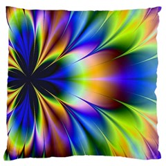 Bright Flower Fractal Star Floral Rainbow Standard Flano Cushion Case (one Side) by Mariart