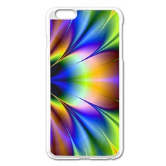 Bright Flower Fractal Star Floral Rainbow Apple Iphone 6 Plus/6s Plus Enamel White Case by Mariart