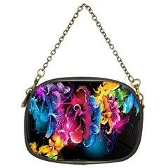 Abstract Patterns Lines Colors Flowers Floral Butterfly Chain Purses (one Side)  by Mariart