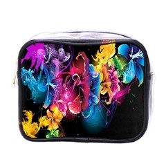 Abstract Patterns Lines Colors Flowers Floral Butterfly Mini Toiletries Bags by Mariart