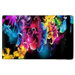 Abstract Patterns Lines Colors Flowers Floral Butterfly Apple Ipad 2 Flip Case by Mariart