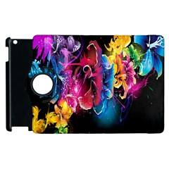 Abstract Patterns Lines Colors Flowers Floral Butterfly Apple Ipad 3/4 Flip 360 Case by Mariart