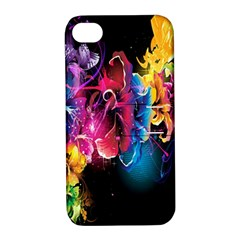 Abstract Patterns Lines Colors Flowers Floral Butterfly Apple Iphone 4/4s Hardshell Case With Stand by Mariart