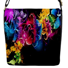 Abstract Patterns Lines Colors Flowers Floral Butterfly Flap Messenger Bag (s) by Mariart
