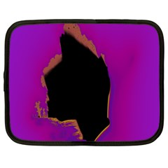 Buffalo Fractal Black Purple Space Netbook Case (xxl)  by Mariart
