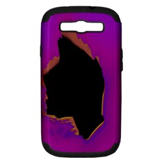 Buffalo Fractal Black Purple Space Samsung Galaxy S Iii Hardshell Case (pc+silicone) by Mariart