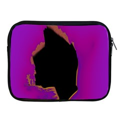 Buffalo Fractal Black Purple Space Apple Ipad 2/3/4 Zipper Cases by Mariart