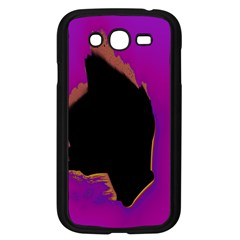Buffalo Fractal Black Purple Space Samsung Galaxy Grand Duos I9082 Case (black) by Mariart