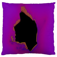 Buffalo Fractal Black Purple Space Standard Flano Cushion Case (one Side) by Mariart