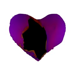 Buffalo Fractal Black Purple Space Standard 16  Premium Flano Heart Shape Cushions by Mariart