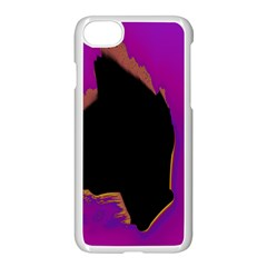 Buffalo Fractal Black Purple Space Apple Iphone 7 Seamless Case (white) by Mariart