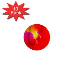 Complex Orange Red Pink Hole Yellow 1  Mini Magnet (10 Pack)  by Mariart