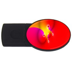 Complex Orange Red Pink Hole Yellow Usb Flash Drive Oval (4 Gb)