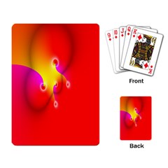 Complex Orange Red Pink Hole Yellow Playing Card