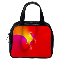 Complex Orange Red Pink Hole Yellow Classic Handbags (one Side) by Mariart
