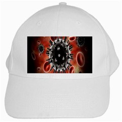 Cancel Cells Broken Bacteria Virus Bold White Cap by Mariart