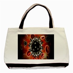 Cancel Cells Broken Bacteria Virus Bold Basic Tote Bag (two Sides) by Mariart