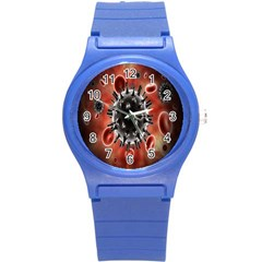 Cancel Cells Broken Bacteria Virus Bold Round Plastic Sport Watch (s) by Mariart