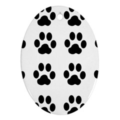 Claw Black Foot Chat Paw Animals Ornament (oval) by Mariart