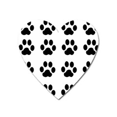 Claw Black Foot Chat Paw Animals Heart Magnet by Mariart