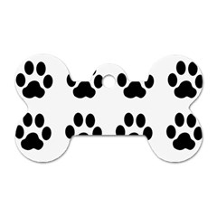 Claw Black Foot Chat Paw Animals Dog Tag Bone (two Sides) by Mariart