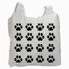 Claw Black Foot Chat Paw Animals Recycle Bag (one Side) by Mariart