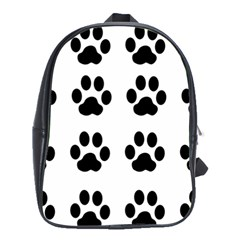Claw Black Foot Chat Paw Animals School Bags(large)