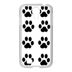 Claw Black Foot Chat Paw Animals Samsung Galaxy S4 I9500/ I9505 Case (white) by Mariart
