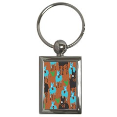 Zebra Horse Animals Key Chains (rectangle)  by Mariart
