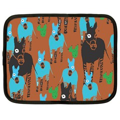 Zebra Horse Animals Netbook Case (large) by Mariart
