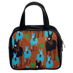 Zebra Horse Animals Classic Handbags (2 Sides) by Mariart