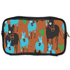 Zebra Horse Animals Toiletries Bags