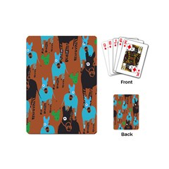 Zebra Horse Animals Playing Cards (mini)  by Mariart