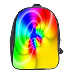 Complex Orange Red Pink Hole Yellow Green Blue School Bags(Large)  Front